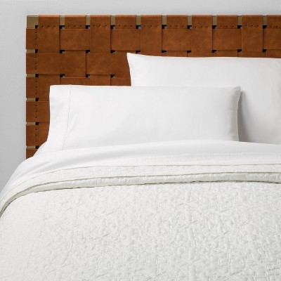 Full/Queen Garment Washed Quilt White - Opalhouse™