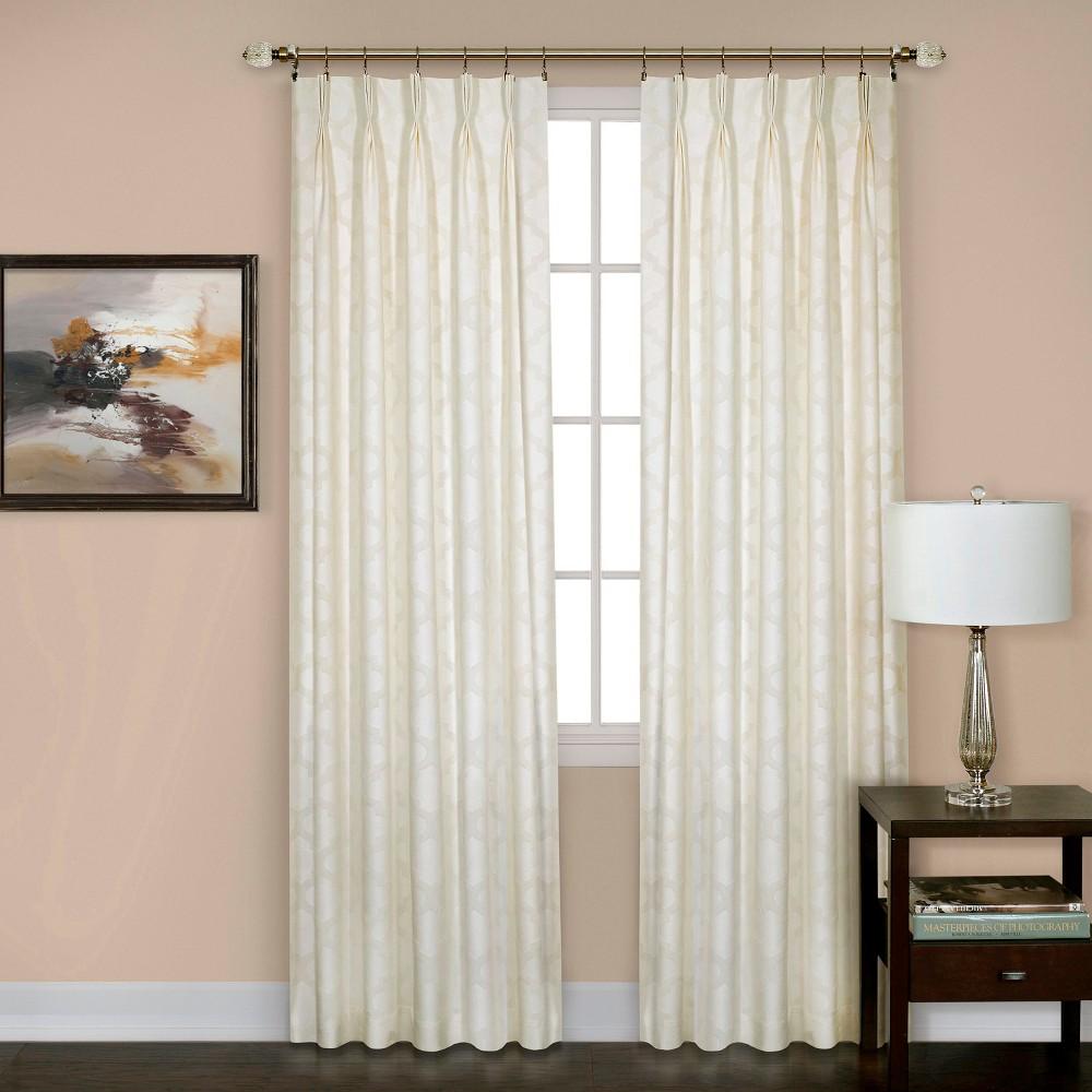 Windsor Pinch Pleat Curtain Panel- Ivory (34