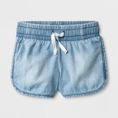 Toddler Girls' Denim Shorts - Cat & Jack™ Light Wash 12M