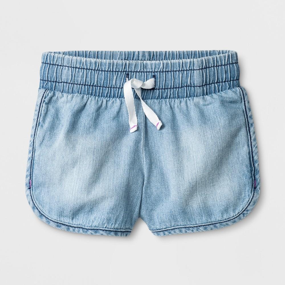 Toddler Girls' Denim Shorts - Cat & Jack Light Wash 12M, Blue