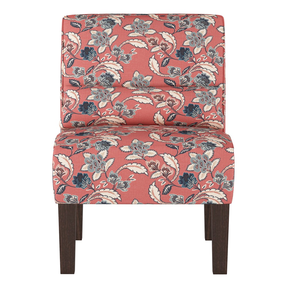 Burke Slipper Chair Libby Floral Faded Red Threshold 8482