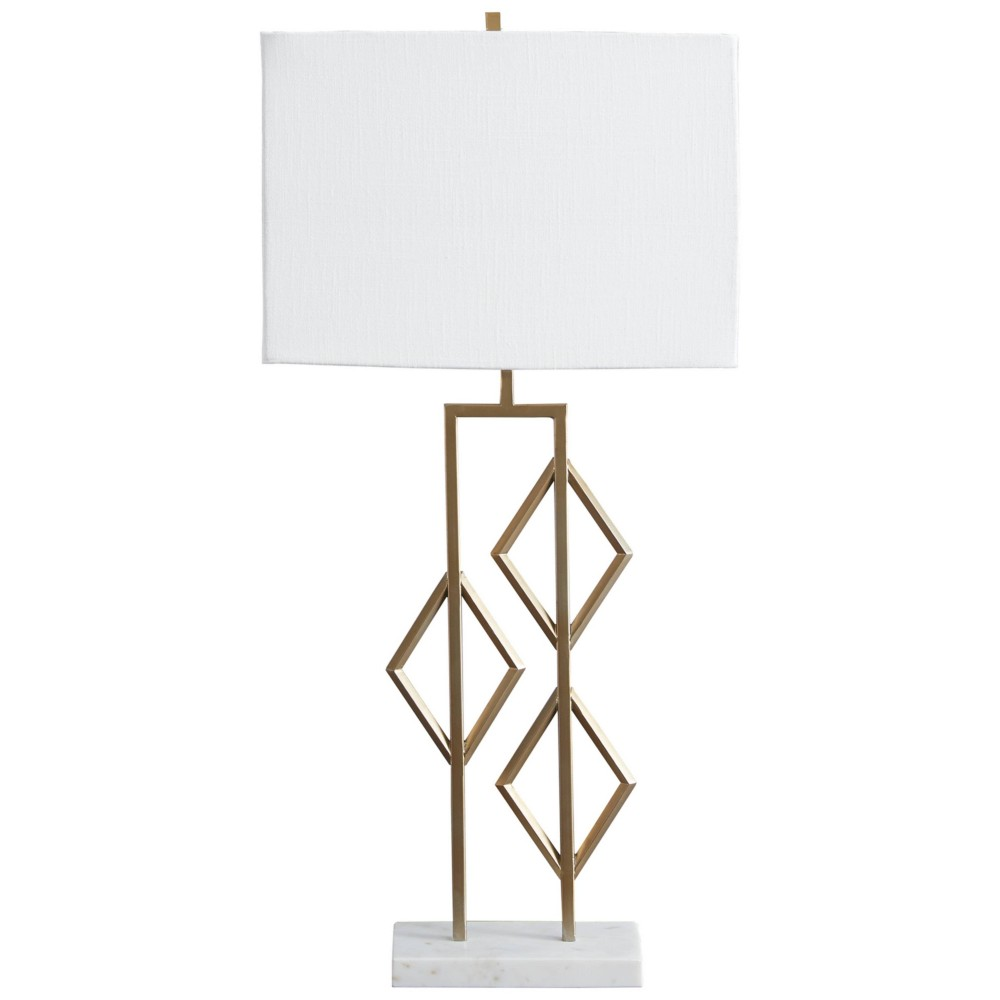 Edsel Table Lamp Champagne White Signature Design By Ashley