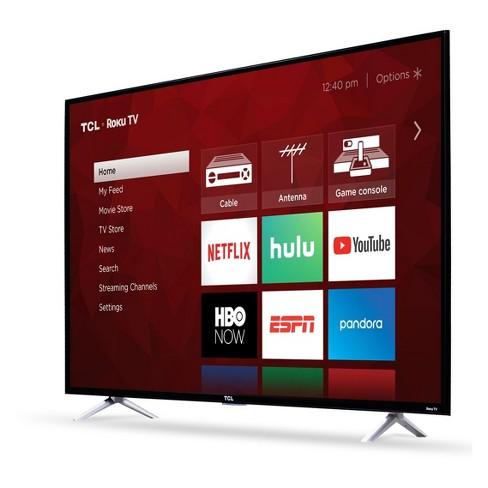Tcl 55 4k Hdr 120hz Cmi Roku Smart Led Tv Black Target