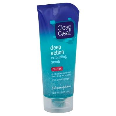 Clean & Clear Oil-Free Deep Action Exfoliating Facial Scrub - 5oz