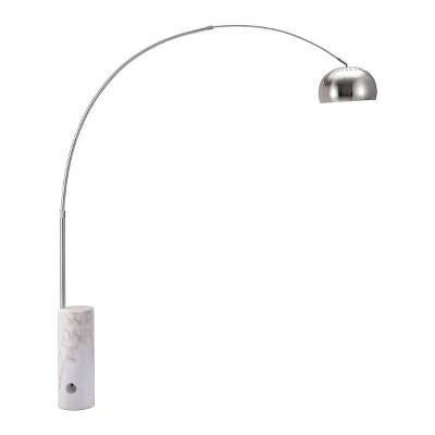 "Modern 83"" Adjustable Satin Chrome Floor Lamp  - ZM Home"