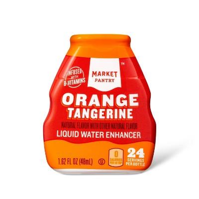 Liquid Water Enhancer Orange Tangerine - 1.62 fl oz Bottle - Market Pantry™