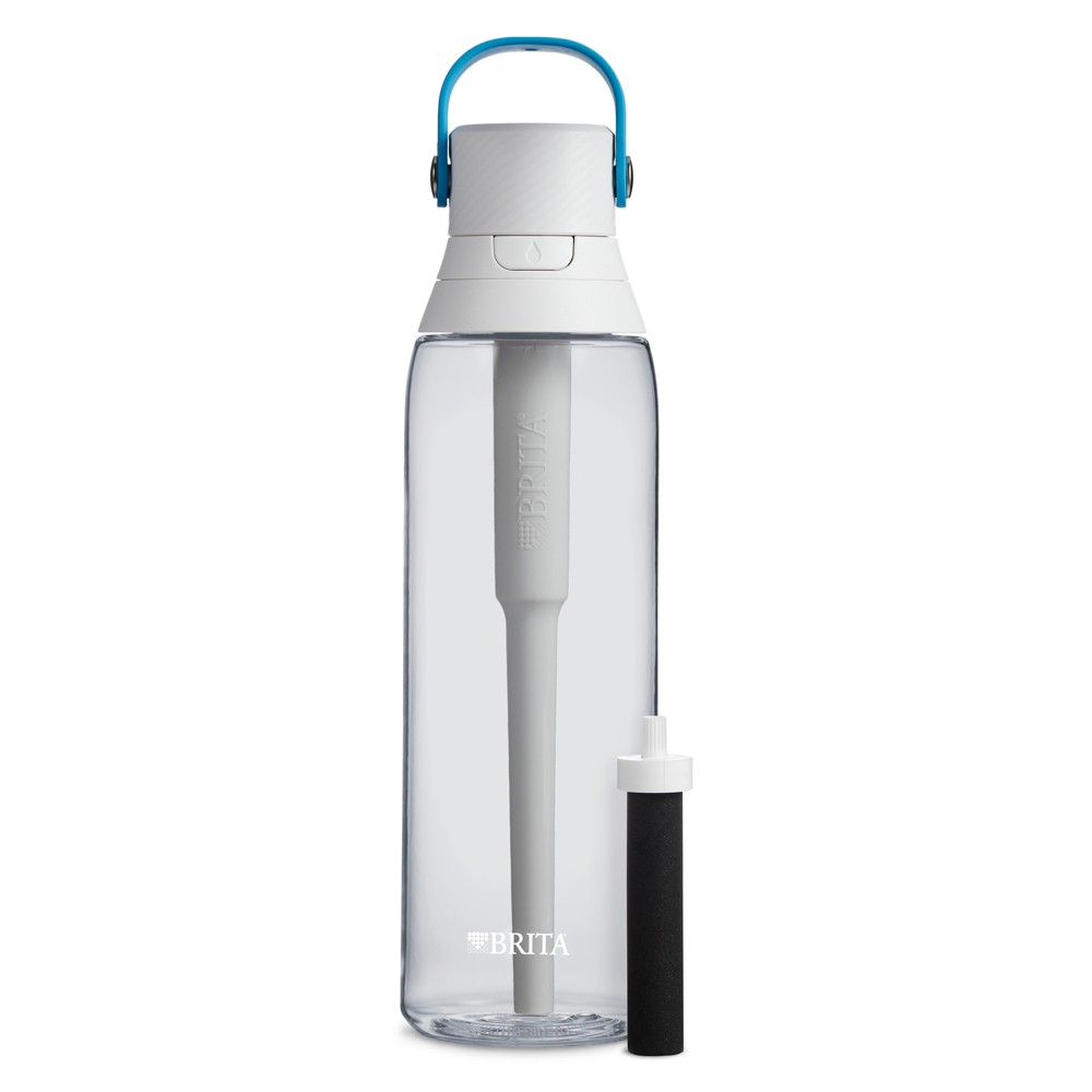 Image of Brita Premium 26oz Filtering Water Bottle with Filter BPA Free - Clear