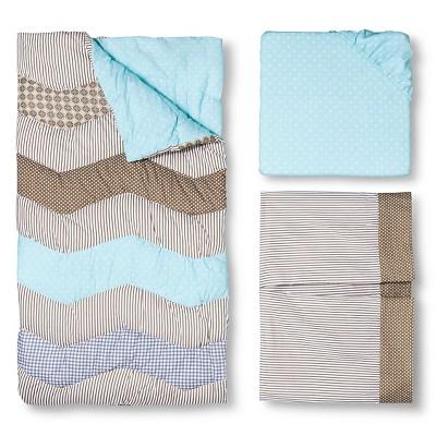 Trend Lab Crib Bedding Set - Cocoa Mint - 3pc