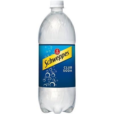 Schweppes Club Soda - 1 L Bottle