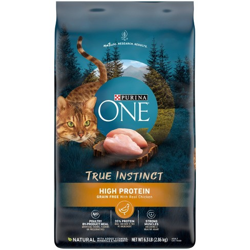Purina ONE True Instinct Grain Free with Real Chicken Adult Premium Dry Cat Food - 6.3lbs - image 1 of 4