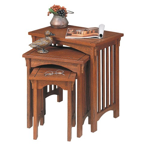 Stuart Nesting Tables Oak - Powell Company - image 1 of 1