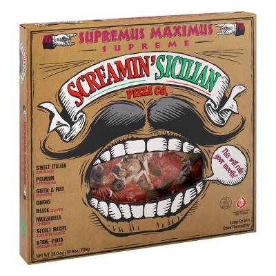 Screamin' Sicilian Supreme Frozen Pizza - 25oz