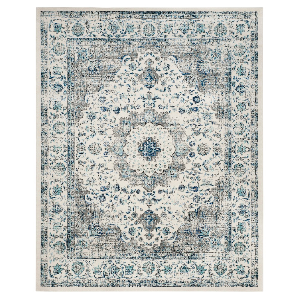 Gray/Ivory Abstract Hooked Area Rug - (12'X18') - Safavieh