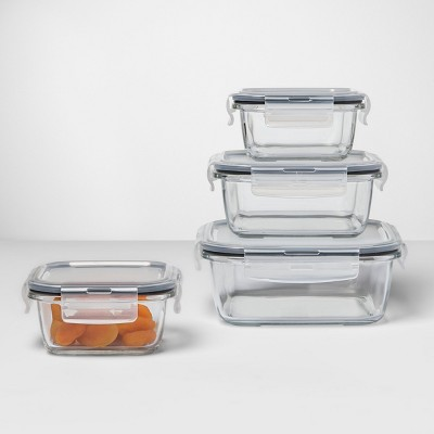 Superbe 8pc Square Glass Food Storage Container Set   Made By Design™ : Target