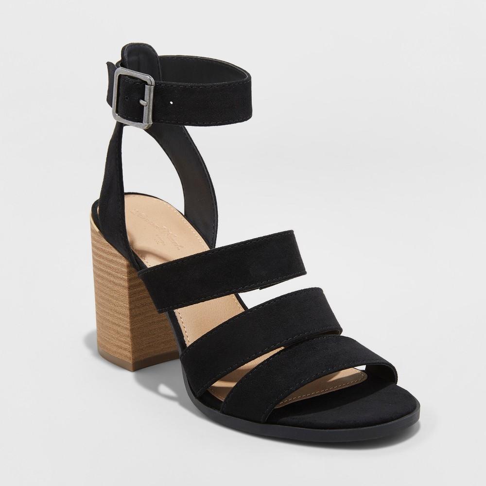 Women's Etta Ankle Strap Sandals - Universal Thread Black 7.5