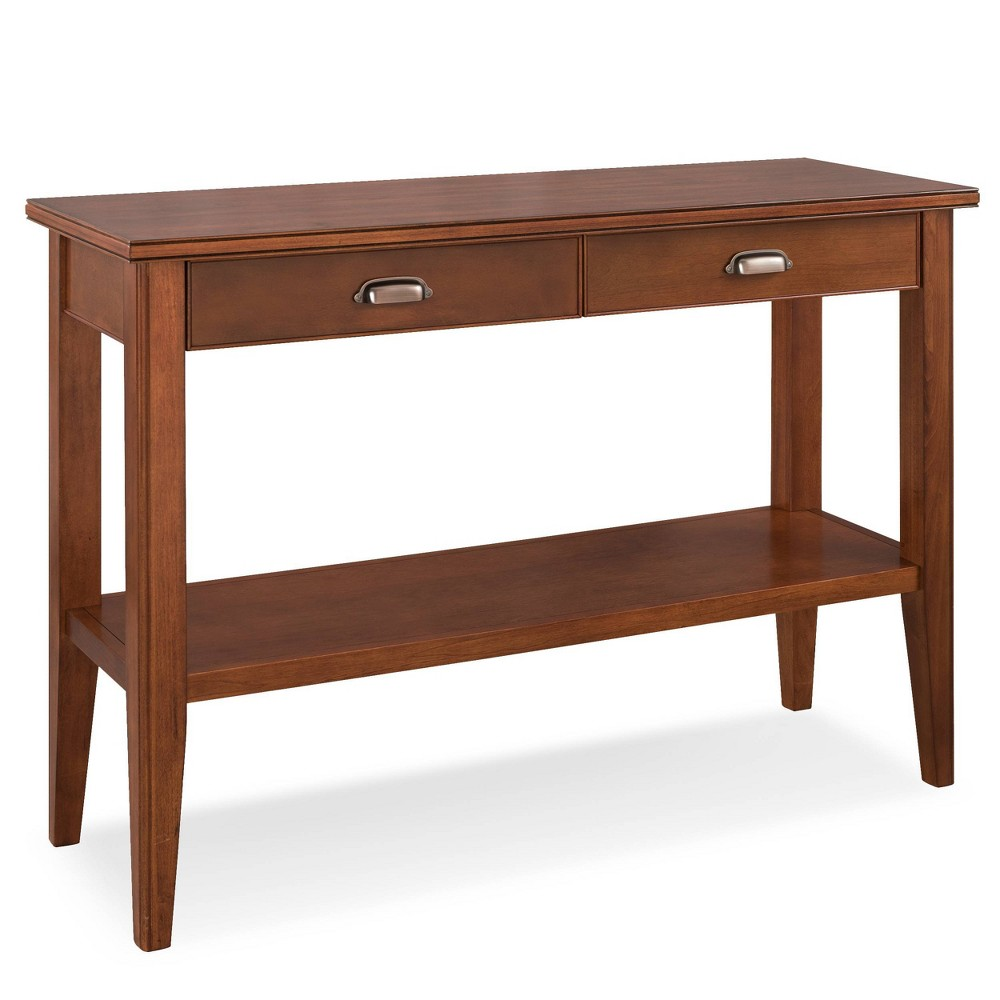 Grayson Collection Two Drawer Sofa Table Sienna Finish Dark Brown - Leick Home
