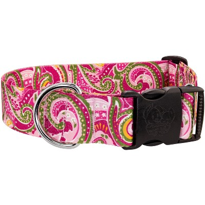 Country Brook Petz® 1 1/2 Inch Deluxe Pink Paisley Dog Collar