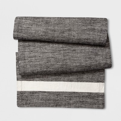 Table Runner Horizontal Stripe - Gray - Smith & Hawken™