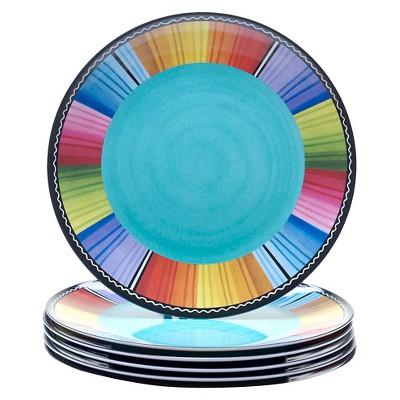 Certified International® Serape Melamine Dinner Plates - 11 x11  Set of 6