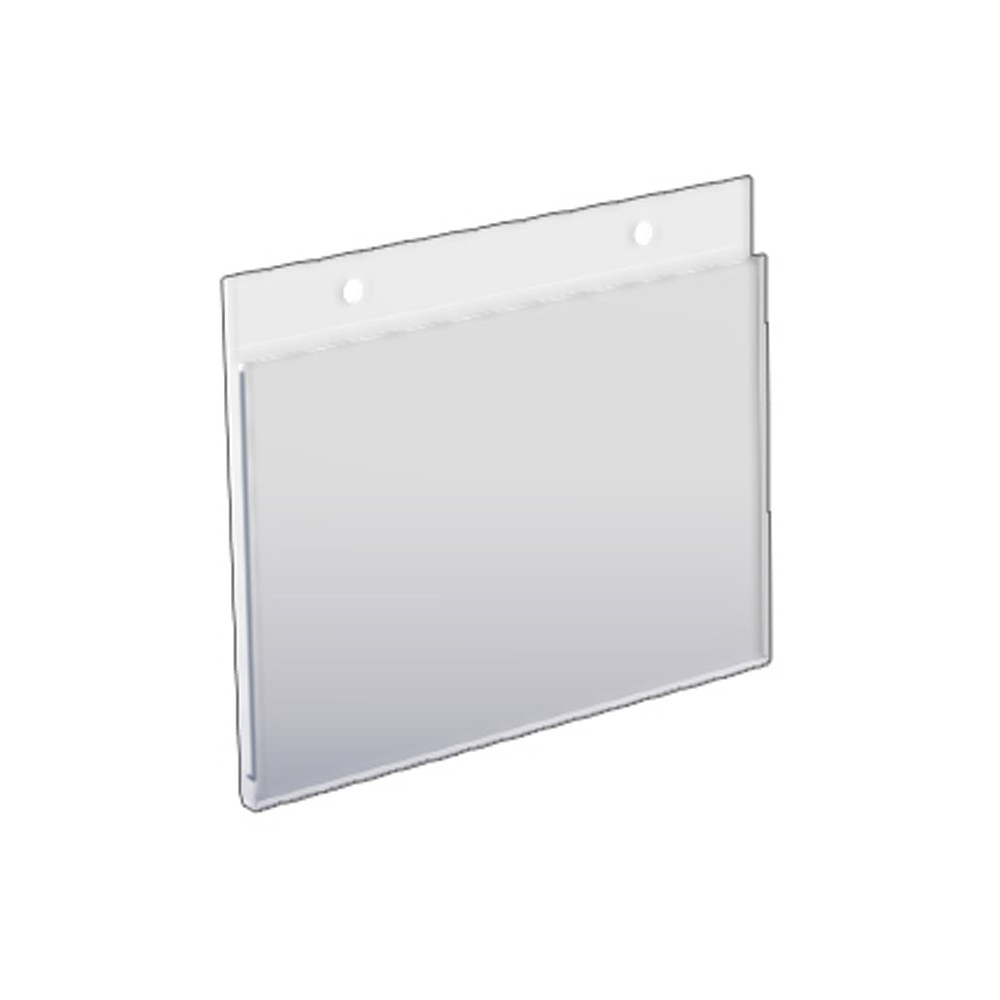 Azar 7 x 5.5 Wall U-Frame Acrylic Sign Holder 10ct, Clear