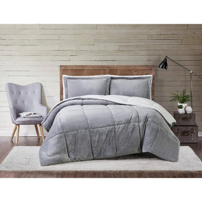 Truly Soft Everyday King Cuddle Warmth Comforter Set Gray