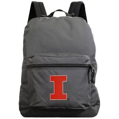 NCAA Illinois Fighting Illini Gray Premium Backpack