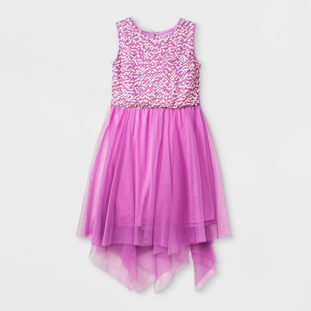 Girls' Sequin Dress - Cat & Jack Purple XS