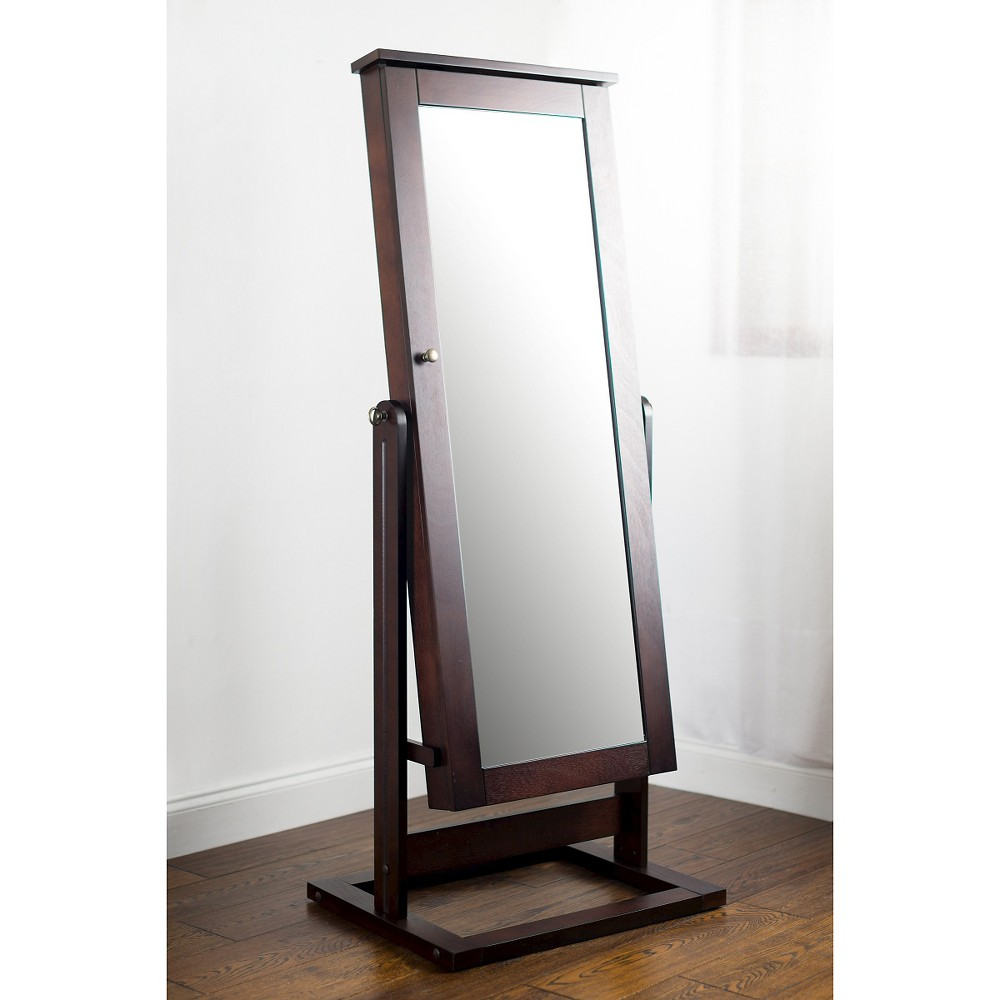 Image of Cheval Jewelry Mirror Walnut - Hives & Honey, Brown