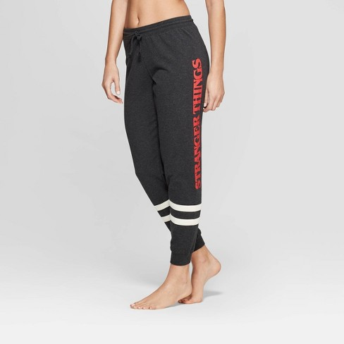 be4a63d4a4513 Women's Stranger Things Jogger Pajama Pants - Charcoal : Target