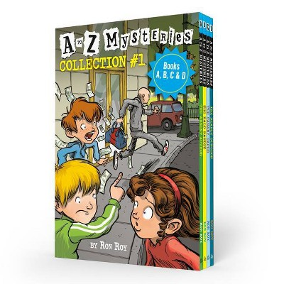 A to Z Mysteries Boxed Set Collection #1 (Books A, B, C, & D) - by  Ron Roy (Mixed Media Product)