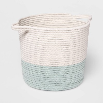 Coiled Rope Bin with Color Band - Cloud Island™ Mint