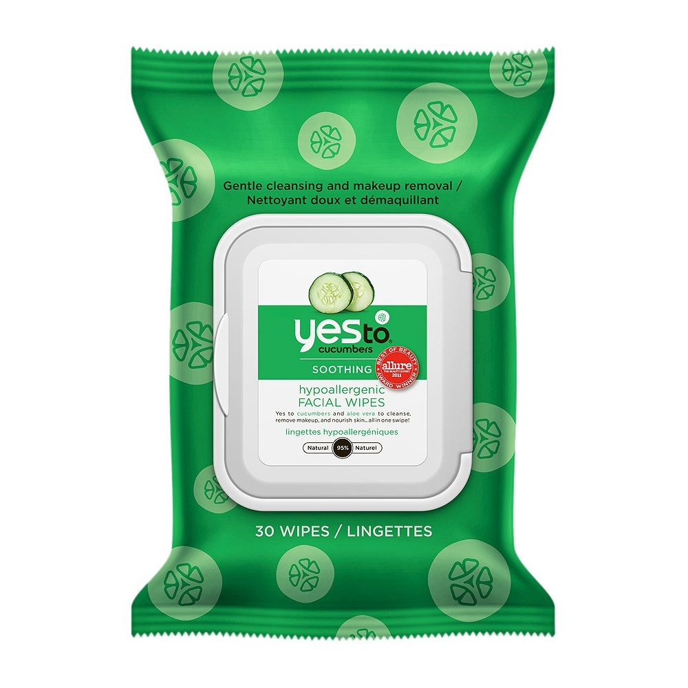 Yes to Cucumbers Hypoallergenic Facial Wipes - 30ct