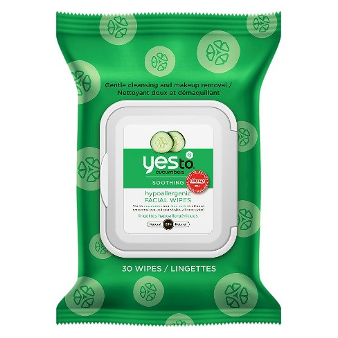 Yes to Cucumbers Hypoallergenic Facial Wipes - 30ct - image 1 of 2