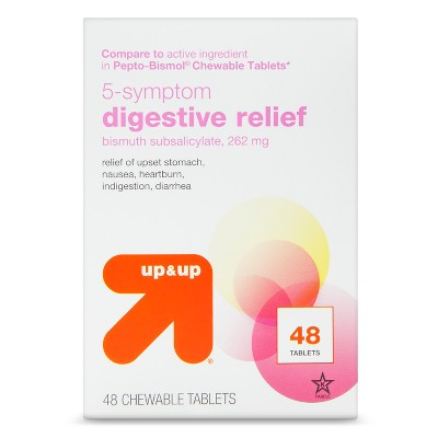 Digestive Relief Chewable Bismuth Tablets - 48ct - up & up™