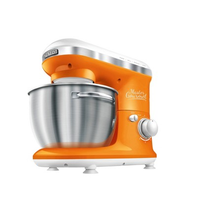 Sencor 4.2qt Stand Mixer with Pouring Shield - Orange