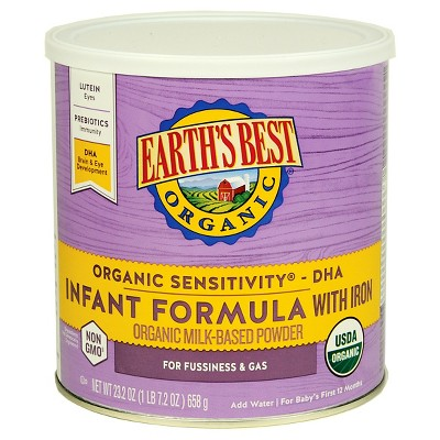 Baby Formula: Earth's Best Sensitivity