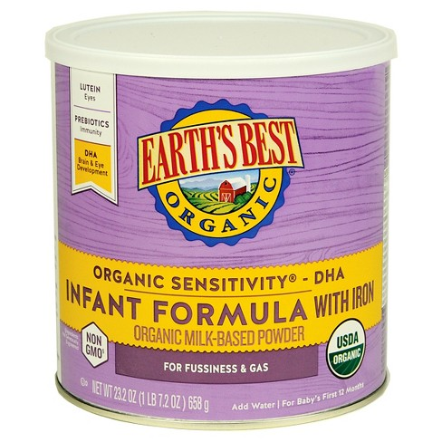 earths best organic sensitivity infant formula with iron 232oz - Formula For Gassy Babies