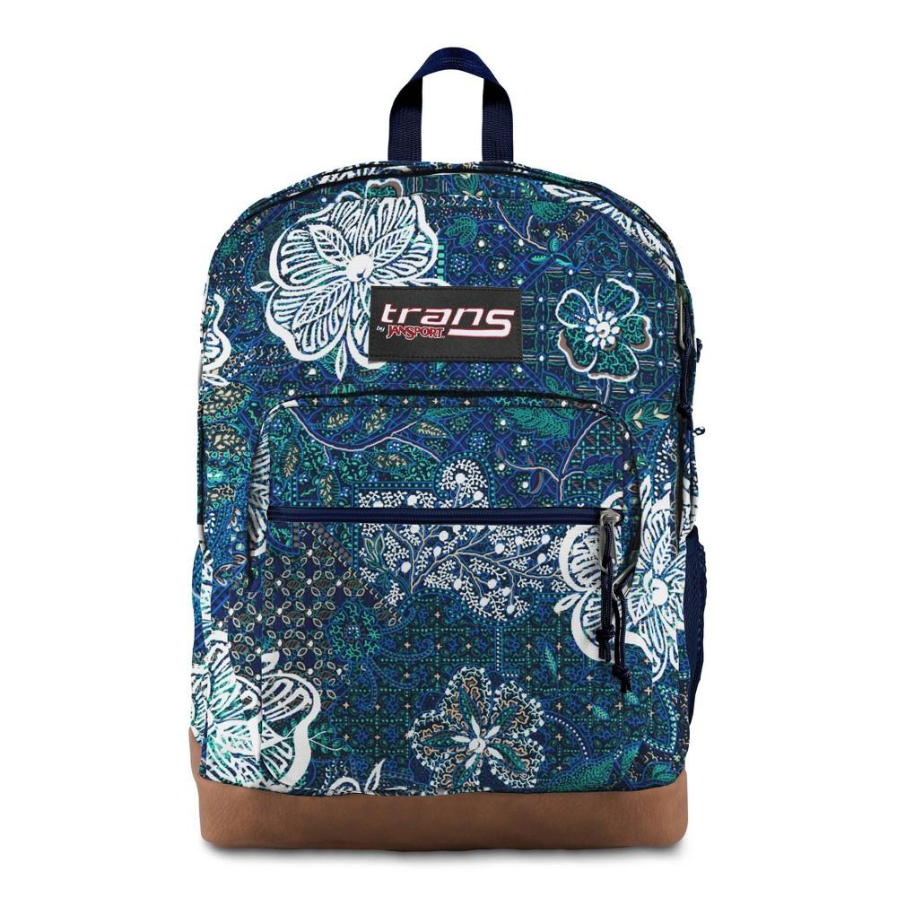 Trans By Jansport 17 34 Super Cool Backpack Mosaic Garden Blue