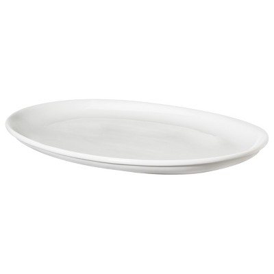 Oval Porcelain Serving Platter 19  x 14.5  White - Threshold™