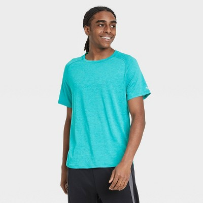 Men's Short Sleeve Run T-Shirt - All in Motion™ Turquoise L