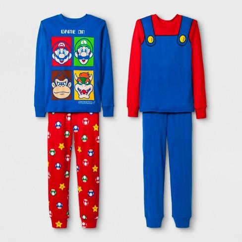 98497edc60 Boys  Nintendo 4pc Pajama Set - Blue Red   Target