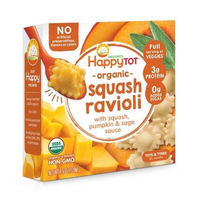 HappyTot Organic Squash Ravioli with Pumpkin & Sage Sauce Baby Meals - 4.5oz