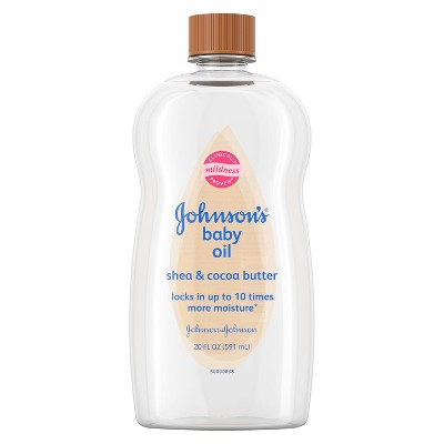 Johnson's Baby Oil with Shea & Cocoa Butter - 20oz