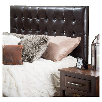 Austin Tufted Bonded Leather Headboard King/California King Brown - Christopher Knight Home