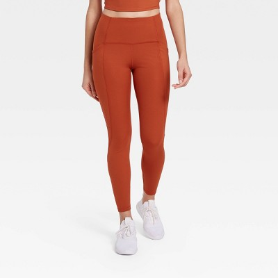 "Women's Sculpted Linear Laser Cut High-Waisted 7/8 Leggings 25"" - All in Motion™"