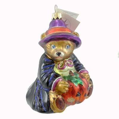 Christopher Radko Bearwitched Ornament Halloween Teddy Bear  -  Tree Ornaments