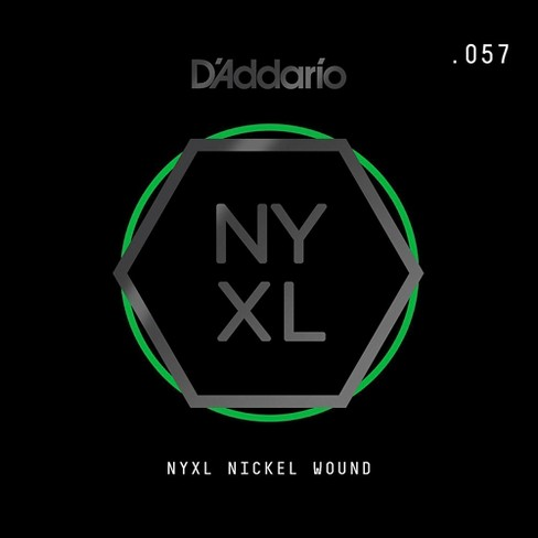 D'Addario NYNW057 NYXL Nickel Wound Electric Guitar Single String, .057 - image 1 of 2