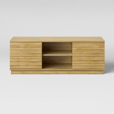 Cliffmay Slat TV Stand Light Oak Brown - Project 62™