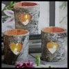"Northlight Valentine's Day 12"" x 12"" Prelit LED Flickering Rustic Birch Wood Candles Canvas Wall Art - image 3 of 3"