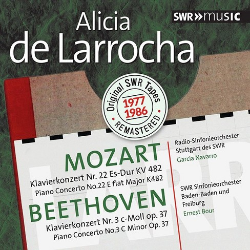 Alicia de larrocha - Alicia de larrocha plays mozart & bee (CD) - image 1 of 1